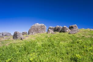 阿蘇 夏の押戸石の丘の写真素材 [FYI04926366]