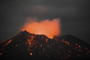 桜島噴火の瞬間の写真素材 [FYI04926515]