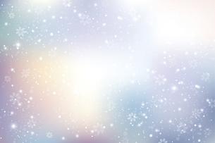 雪の結晶が舞う背景のイラスト素材 [FYI04926520]