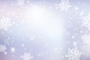 雪の結晶が舞う背景のイラスト素材 [FYI04927020]