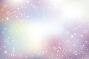 雪の結晶が舞う背景のイラスト素材 [FYI04927021]