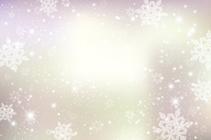 雪の結晶が舞う背景のイラスト素材 [FYI04927061]