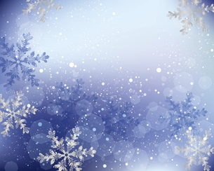 雪の結晶の背景のイラスト素材 [FYI04927847]