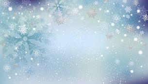 雪の結晶が舞う背景のイラスト素材 [FYI04927858]