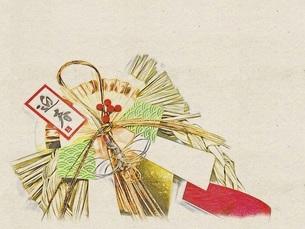 正月イメージ 正月飾りのイラスト素材 [FYI04928284]