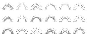 サンバースト 太陽光のオーナメントのイラスト素材 [FYI04928286]