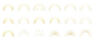 サンバースト 太陽光のオーナメントのイラスト素材 [FYI04928287]