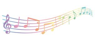 シンプルでかわいい音符のハーモニーのイラスト素材 [FYI04928580]
