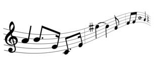 シンプルでかわいい音符のハーモニーのイラスト素材 [FYI04928581]