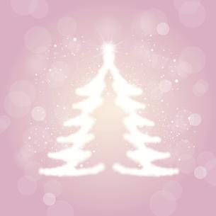 輝くクリスマスツリーのシルエットイラストのイラスト素材 [FYI04928637]