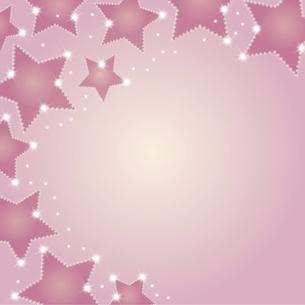 星型シルエットの背景イラストのイラスト素材 [FYI04928693]
