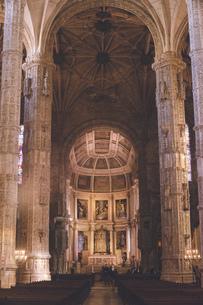 ポルトガル リスボンのサンタマリア・デ・ベレン教会 - ジェロニモス修道院の写真素材 [FYI04929442]