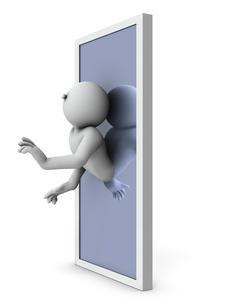 取り込まれ同化する魔法の鏡のイラスト素材 [FYI04929663]