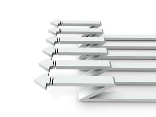 左に進む複数の矢印のイラスト素材 [FYI04929847]