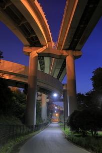 川口ジャンクションの夜景の写真素材 [FYI04930174]