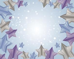 立体的な星型の背景イラストのイラスト素材 [FYI04932347]