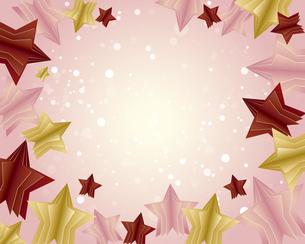 立体的な星型の背景イラストのイラスト素材 [FYI04932553]