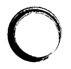 筆による丸い円形の和風素材のイラスト素材 [FYI04933139]
