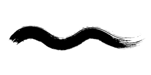 波形をした筆による和風素材のイラスト素材 [FYI04933147]