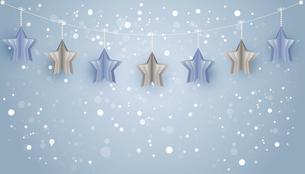 立体的な星型オーナメンの背景のイラスト素材 [FYI04933151]