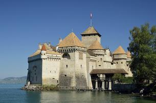 スイス シヨン城の写真素材 [FYI04936172]