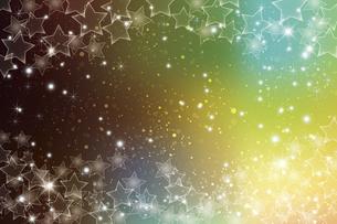 星が散らばるぼかしグラデーション背景のイラスト素材 [FYI04936680]