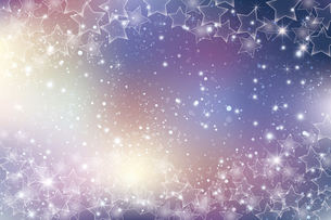 星が散らばるぼかしグラデーション背景のイラスト素材 [FYI04936812]