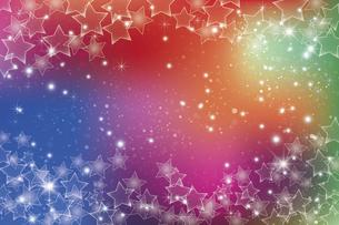 星が散らばるぼかしグラデーション背景のイラスト素材 [FYI04936932]