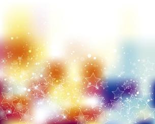 星とぼかしグラデーションの背景のイラスト素材 [FYI04937796]