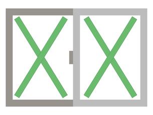 飛散防止 養生テープ 窓ガラスのイラスト素材 [FYI04938887]