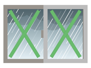 飛散防止 養生テープ 窓ガラスのイラスト素材 [FYI04938888]