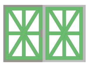 飛散防止 養生テープ 窓ガラスのイラスト素材 [FYI04938889]