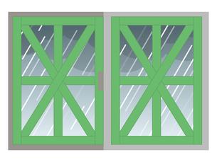 飛散防止 養生テープ 窓ガラスのイラスト素材 [FYI04938890]