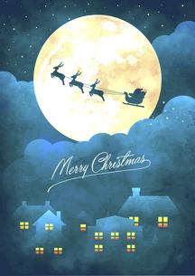 クリスマス グリーティングカードイラスト(ビンテージテクスチャ)のイラスト素材 [FYI04939286]