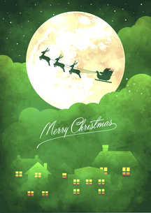 クリスマス グリーティングカードイラスト(ビンテージテクスチャ)のイラスト素材 [FYI04939287]
