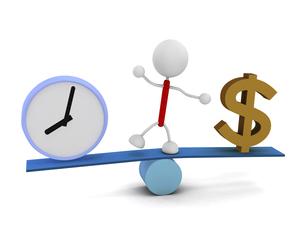ドルと時計のイラスト素材 [FYI04939472]