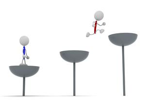 飛び移る棒人間のイラスト素材 [FYI04939484]