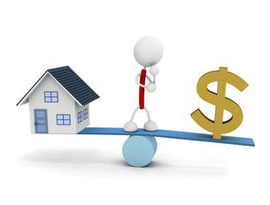 ドルと家のイラスト素材 [FYI04939491]