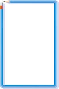 鉛筆のフレームの縦長のテキストスペースのイラスト素材 [FYI04939999]