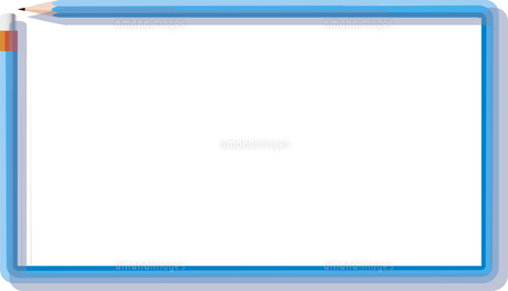 横長にテキストが入る鉛筆デザインのフレームのイラスト素材 [FYI04940000]