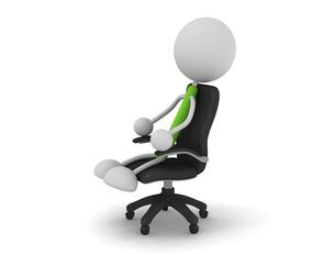 椅子に座る棒人間のイラスト素材 [FYI04940372]