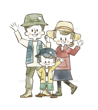 アウトドアウェアの家族のイラスト素材 [FYI04940402]