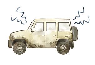 汚れている自動車-SUVのイラスト素材 [FYI04940407]