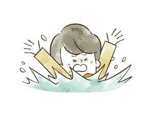 溺れている男の子のイラスト素材 [FYI04940426]