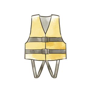 ライフジャケットのイラスト素材 [FYI04940429]