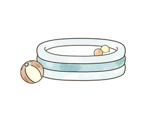 ビニールプールのイラスト素材 [FYI04940439]