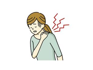 肩こりに悩む女性のイラスト素材 [FYI04940468]
