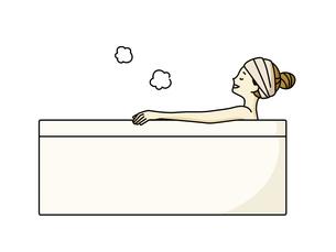 入浴している女性のイラスト素材 [FYI04940477]