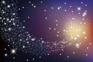 輝く星雲の銀河イメージ背景のイラスト素材 [FYI04940551]
