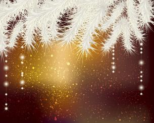モミとオーナメントのクリスマス背景のイラスト素材 [FYI04940576]